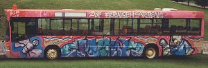 "ZDF Fernsehgarten Graffiti Bus by Werner ""Mr.W"" Skolimowski"