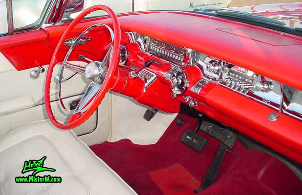 Photo of a white & red 1957 Buick Roadmaster Convertible at the Scottsdale Pavilions Classic Car Show in Arizona. 1957 Buick Odometer
