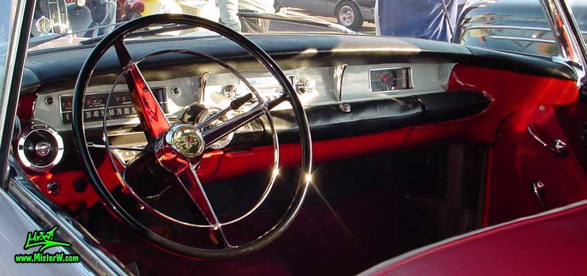 Photo of a grey 1957 Buick Convertible at the Scottsdale Pavilions Classic Car Show in Arizona. 1957 Buick Dashboard
