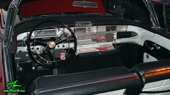 Photo of a grey 1957 Buick Convertible at the Scottsdale Pavilions Classic Car Show in Arizona. 1957 Buick Dashboard & Glove Box