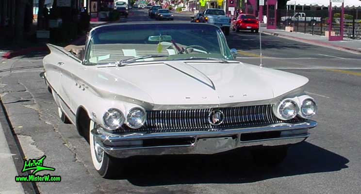 Photo of a white 1960 Buick Invicta Convertible in Reno, Nevada. 1960 Buick Invicta Convertible
