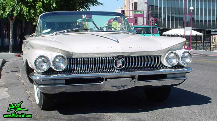 Photo of a white 1960 Buick Invicta Convertible in Reno, Nevada. White 1960 Buick Invicta Convertible