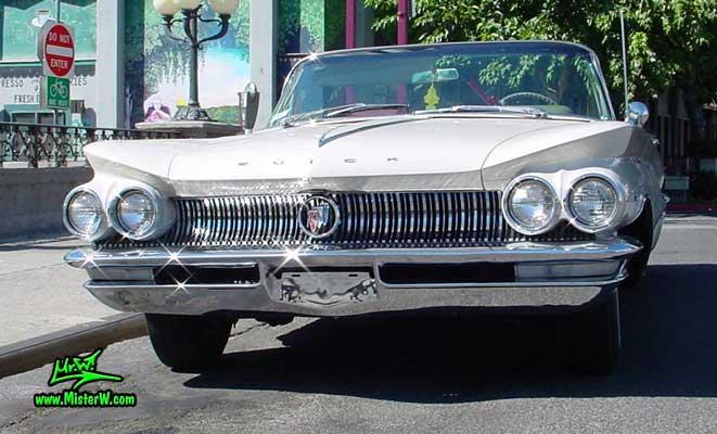 Photo of a white 1960 Buick Invicta Convertible in Reno, Nevada. 60 Buick Invicta Convertible