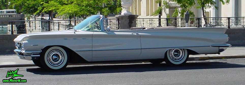 Photo of a white 1960 Buick Invicta Convertible in Reno, Nevada. Topless 1960 Buick