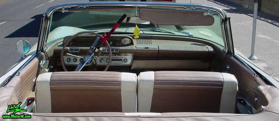 Photo of a white 1960 Buick Invicta Convertible in Reno, Nevada. 1960 Buick Convertible Interior & Dash Board