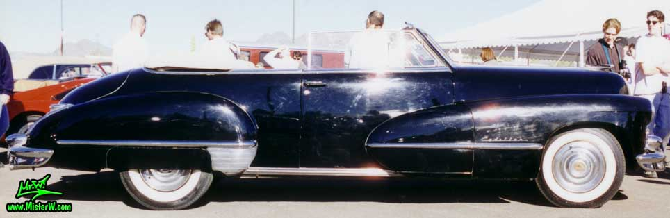 Photo of a black 1947 Cadillac Series 62 Convertible at a classic car auction in Scottsdale, Arizona. 1947 Cadillac