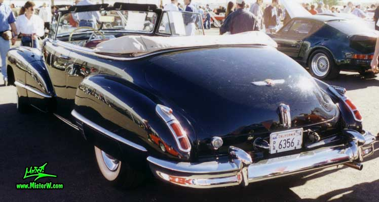 Photo of a black 1947 Cadillac Series 62 Convertible at a classic car auction in Scottsdale, Arizona. 1947 Cadillac Cabrio