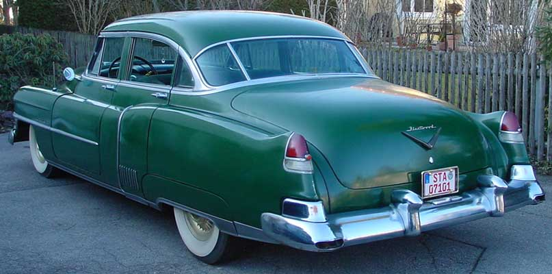 Photo of a green 1952 Cadillac Fleetwood Series 60 Special Sedan 4 Door Hardtop, provided by Chris from Starnberg, Germany. 1952 Cadillac Fleetwood Series Sixty Special Tail Fins
