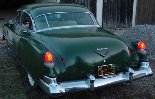 Photo of a green 1952 Cadillac Fleetwood Series 60 Special Sedan 4 Door Hardtop, provided by Chris from Starnberg, Germany. 1952 Cadillac Rearview