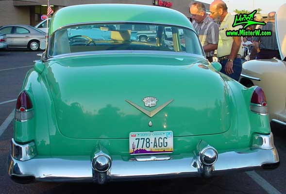 Tail fins of a turquoise 1953 cadillac 1953 cadillac for 1953 cadillac 4 door sedan