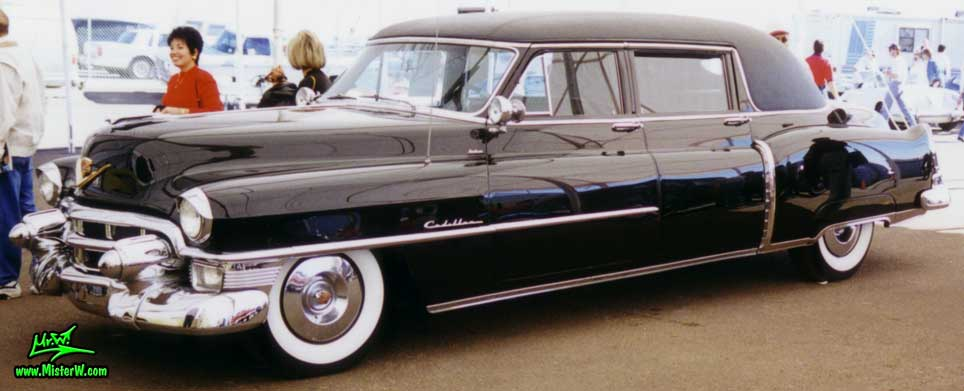 Photo of a black 1953 Cadillac Fleetwood Series Seventy Five Limousine at a classic car auction in Scottsdale, Arizona. 1953 Cadillac Fleetwood Series Seventy Five Limousine