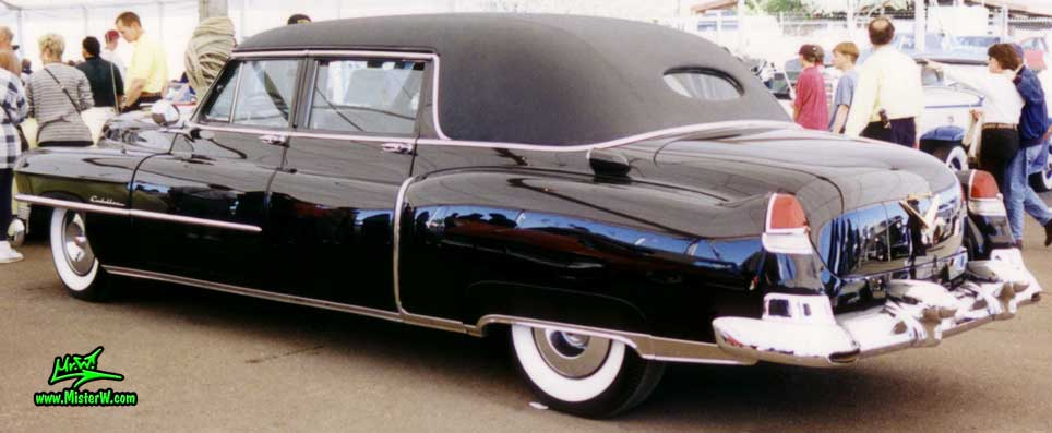 Photo of a black 1953 Cadillac Fleetwood Series Seventy Five Limousine at a classic car auction in Scottsdale, Arizona. Black 1953 Cadillac Fleetwood