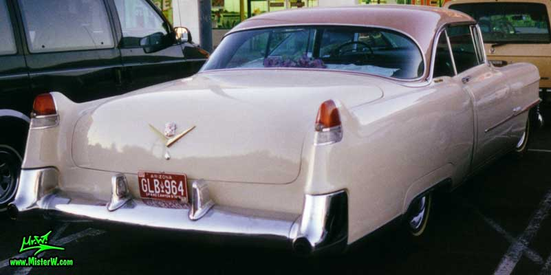 Photo of a cream colored 1954 Cadillac Series 62 Coupe 2 Door Hardtop in Scottsdale, Arizona. 1954 Caddy Coupe
