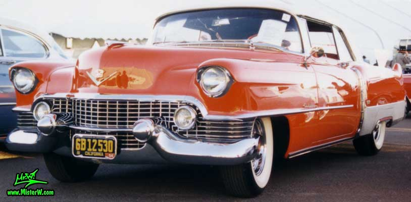 Photo of a red 1954 Cadillac Eldorado Convertible at a classic car auction in Scottsdale, Arizona. Red 1954 Cadillac Eldorado Convertible