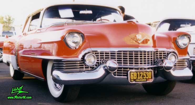 Photo of a red 1954 Cadillac Eldorado Convertible at a classic car auction in Scottsdale, Arizona. 1954 Cadillac Eldorado