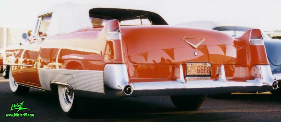 Photo of a red 1954 Cadillac Eldorado Convertible at a classic car auction in Scottsdale, Arizona. 1954 Caddy Eldorado