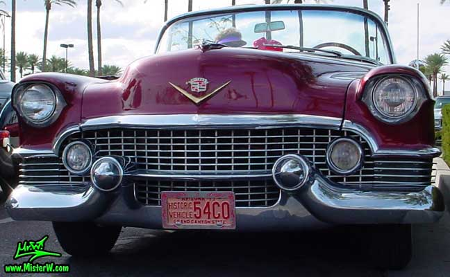 Photo of a red 1954 Cadillac Eldorado Convertible at the Scottsdale Pavilions Classic Car Show in Arizona. Red 1954 Cadillac