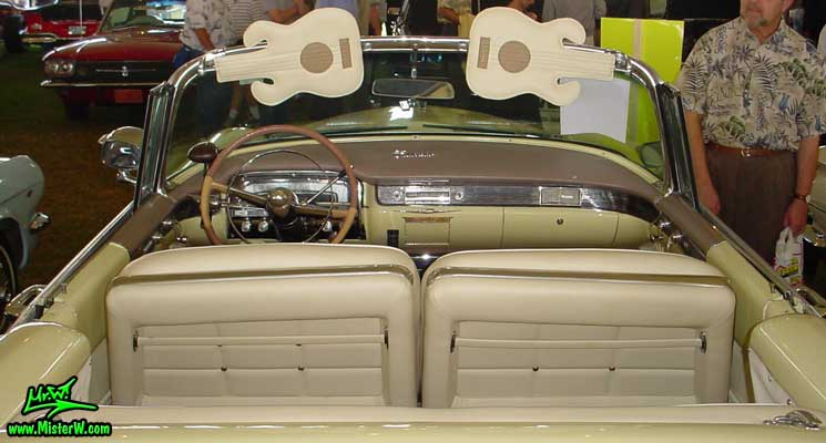 Photo of a white 1955 Cadillac Eldorado Convertible at a classic car auction in Scottsdale, Arizona. 1955 Cadillac Eldorado Dashboard