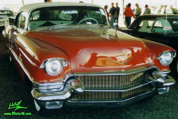 Photo of a red 1956 Cadillac Eldorado SeVille Coupe 2 Door Hardtop at a Classic Car auction in Scottsdale, Arizona. 1956 Cadillac Eldorado