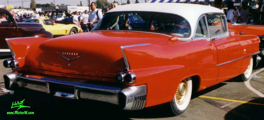 Photo of a red 1956 Cadillac Eldorado SeVille Coupe 2 Door Hardtop at a Classic Car auction in Scottsdale, Arizona. Red 1956 Cadillac Eldorado Coupe