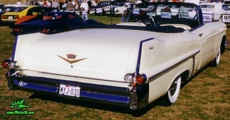 Photo of a white 1957 Cadillac Series 62 Convertible at a Classic Car auction in Scottsdale, Arizona. 1957 Cadillac Series 62 Convertible