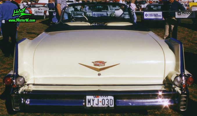 Photo of a white 1957 Cadillac Series 62 Convertible at a Classic Car auction in Scottsdale, Arizona. 1957 Cadillac Convertible