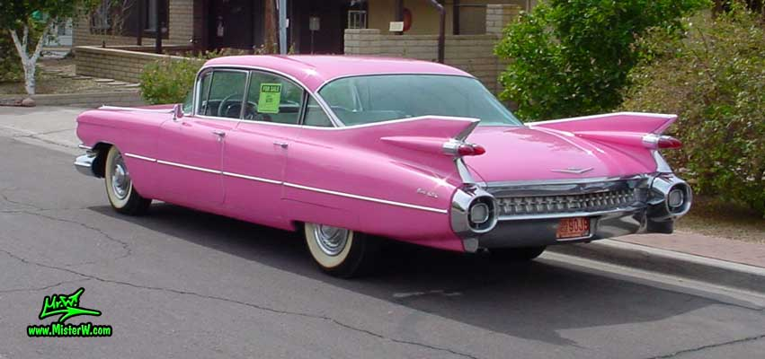 Photo of a pink 1959 Cadillac 4 Door Hardtop Sedan in Sunnyslope, Arizona. 1959 Cadillac Sedan