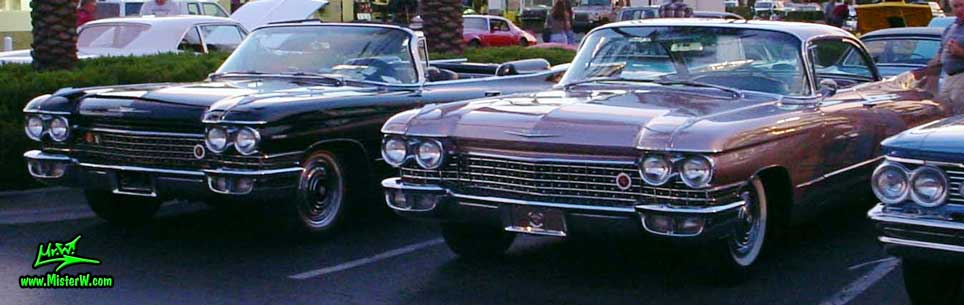 Photo of 2 1960 Cadillacs at the Scottsdale Pavilions Classic Car Show in Arizona. 1960 Cadillacs