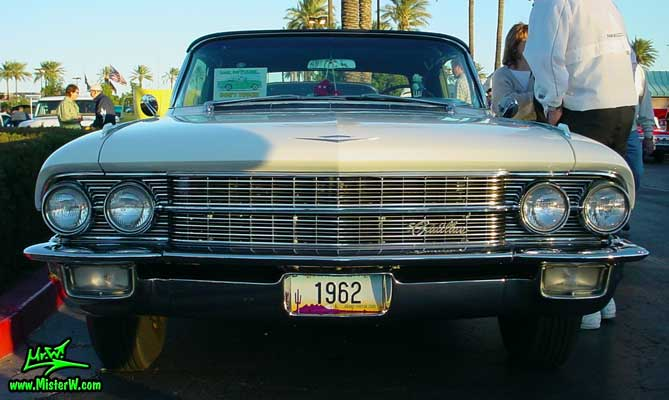 Photo of a white 1962 Cadillac Convertible at the Scottsdale Pavilions Classic Car Show in Arizona. 1962 Cadillac Convertible