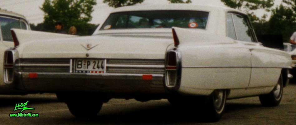 Photo of a white 1963 Cadillac 2 Door Hardtop Coupe at a classic car meeting in Köln Chorweiler (Cologne), Germany. 1963 Cadillac Coupe