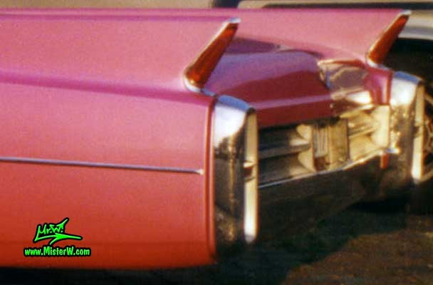 Photo of a pink 1963 Cadillac 2 Door Hardtop Coupe at a classic car meeting in Germany. 1963 Cadillac Rear Bumper