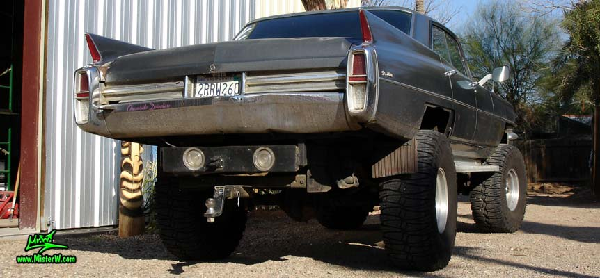 Lifted Off Road Cadillac Sedan Deville Rearview