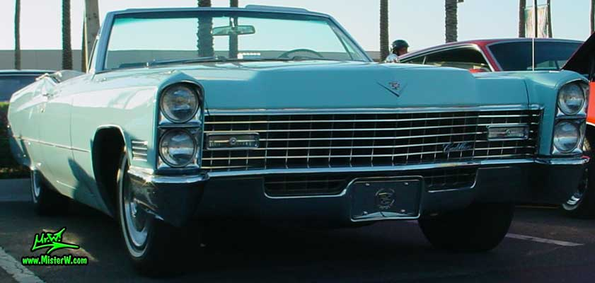 Photo of a bright blue 1967 Cadillac Convertible at the Scottsdale Pavilions Classic Car Show in Arizona. 1967 Cadillac Convertible