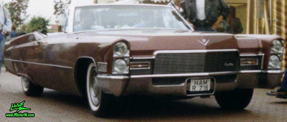 Photo of a brown 1968 Cadillac Convertible at a classic car meeting in K�ln Chorweiler (Cologne), Germany. 1968 Cadillac Convertible