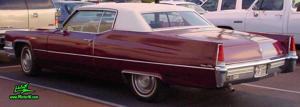 Photo of a red 1969 Cadillac 2 Door Hardtop Coupe DeVille in Mesa, Arizona. 1969 Cadillac Coupe
