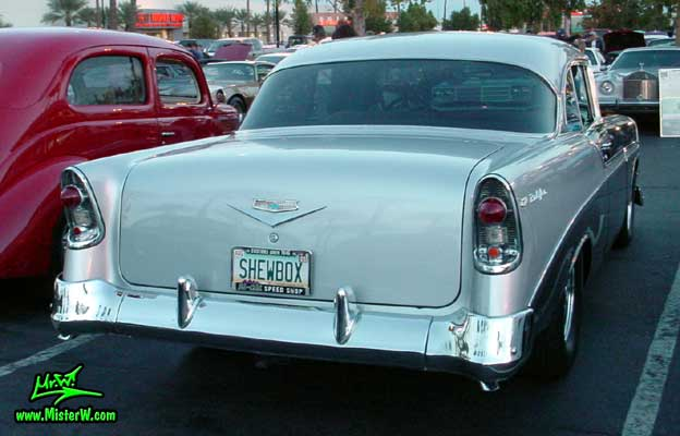 Rearview of a 56 Chevrolet Bel Air Coupe