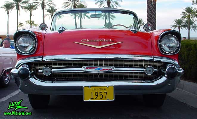 Photo of a red 1957 Chevrolet Bel Air Convertible at the Scottsdale Pavilions Classic Car Show in Arizona. 1957 Chevy