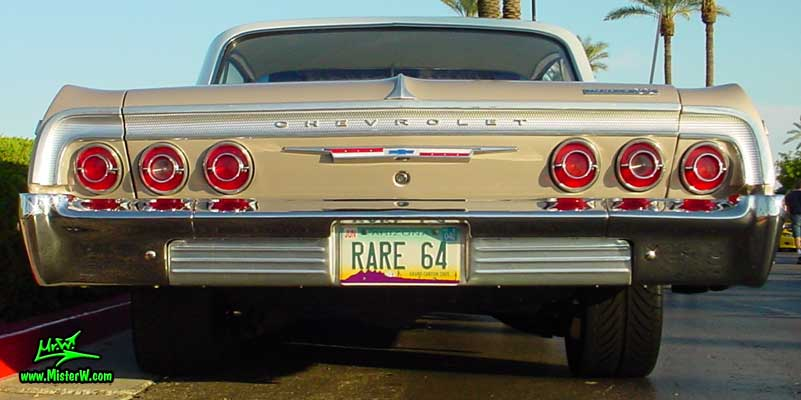 Photo of a rare 1964 Chevrolet Impala 2 Door Hardtop Coupe at the Scottsdale Pavilions Classic Car Show in Arizona. 1964 Chevrolet Impala