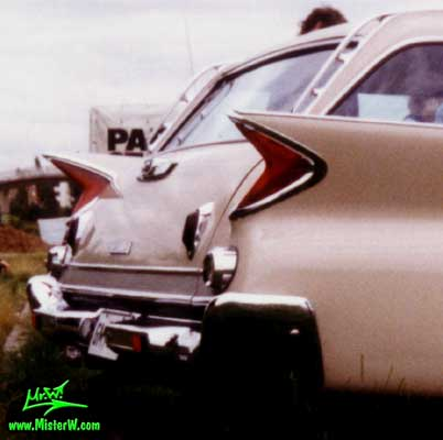 Photo of a tan 1961 Chrysler Newport 4 Door Hartop Station Wagon at a classic car meeting in Germany. 1961 Chrysler Newport Wagon Tail Fins