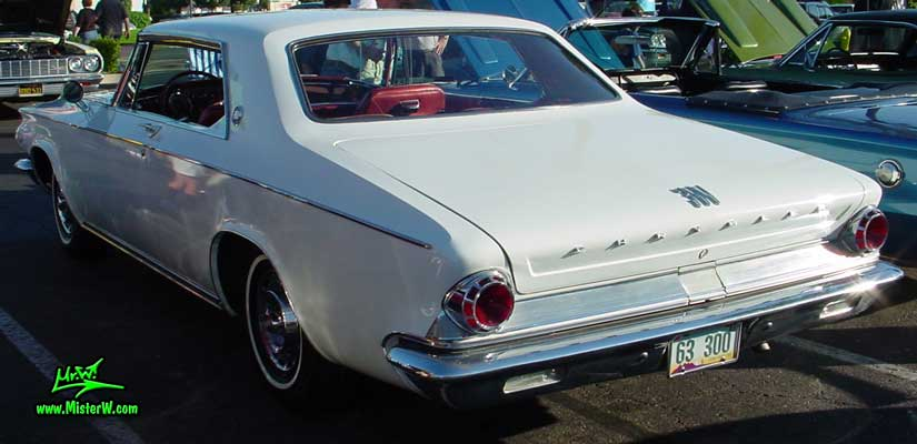 Photo of a white 1963 Chrysler 300 2 Door Hardtop Coupe at the Scottsdale Pavilions Classic Car Show in Arizona. 1963 Chrysler