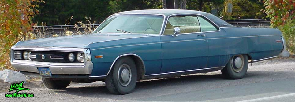 Photo of a blue 1970 Chrysler 2 Door Hardtop Coupe in Northern California. 1970 Chrysler Coupe