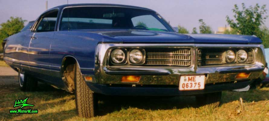 Photo of a blue 1972 Chrysler New Yorker 2 Door Hardtop Coupe at a Classic Car Meeting in Germany. 1972 Chrysler