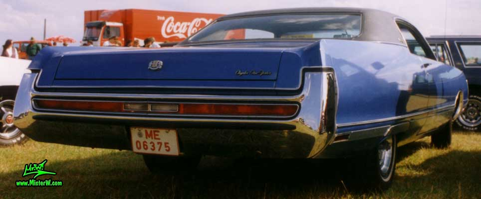 Photo of a blue 1972 Chrysler New Yorker 2 Door Hardtop Coupe at a Classic Car Meeting in Germany. 1972 Chrysler Coupe