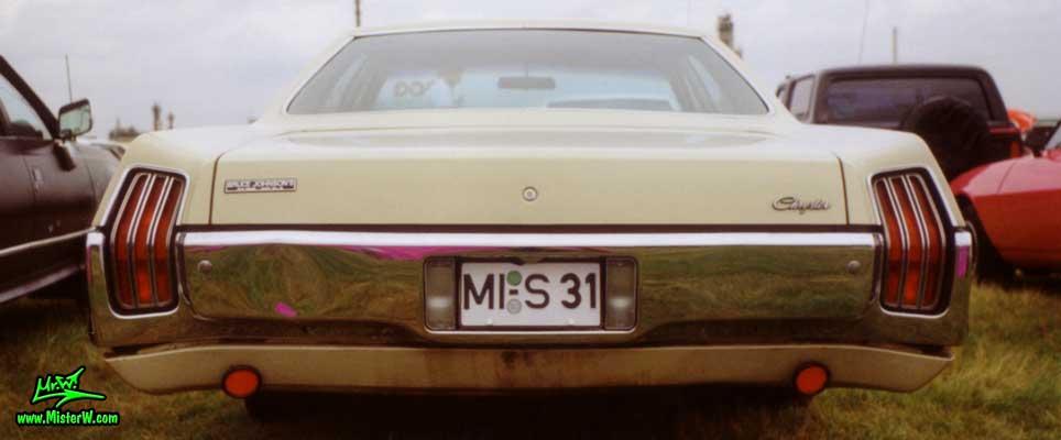 Photo of a beige 1972 Chrysler 4 Door Hardtop Sedan at a Classic Car Meeting in Germany. 1972 Chrysler Back
