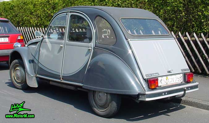 Photo of a grey Citroen 2CV 4 Door Hardtop Sedan in Kassel, Germany. Ente