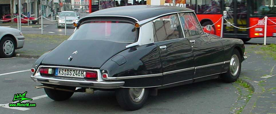 Photo of a black Citroen DS 4 Door Hardtop Sedan in Kassel, Germany. Citroen DS