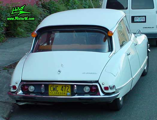 Photo of a white Citroen DS 4 Door Hardtop Sedan in Portland, Oregon. White Citroen DS