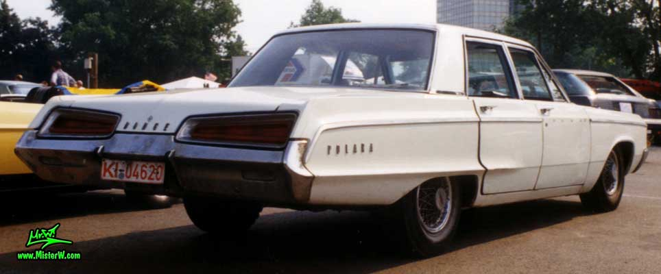 Photo of a white 1967 Dodge Polara 4 Door Hardtop Sedan at the Wheels Nationals Classic Car meeting in Hamburg, Germany. 1967 Dodge Polara Rearview