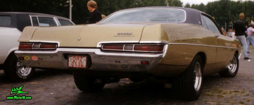 Photo of a brown 1969 Dodge 2 Door Hardtop Coupe at a Classic Car meeting in Germany. 1969 Dodge Coupe Rearview