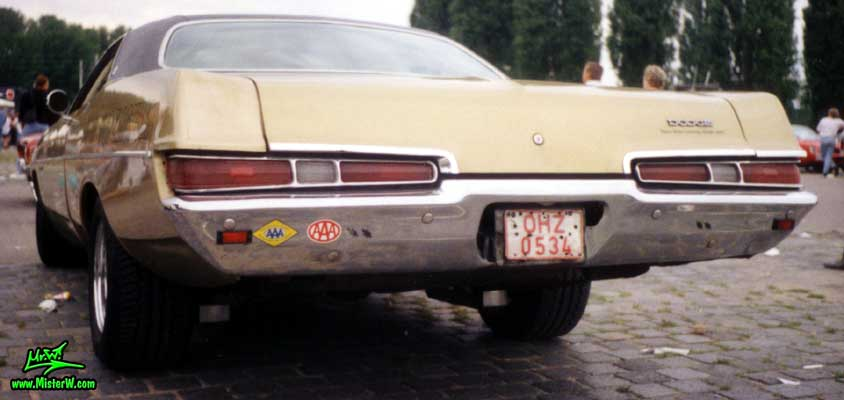 Photo of a brown 1969 Dodge 2 Door Hardtop Coupe at a Classic Car meeting in Germany. 69 Dodge Coupe